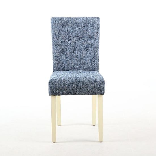 Oriel Dining Chair In Oxford Blue With Cream Legs In A Pair_2