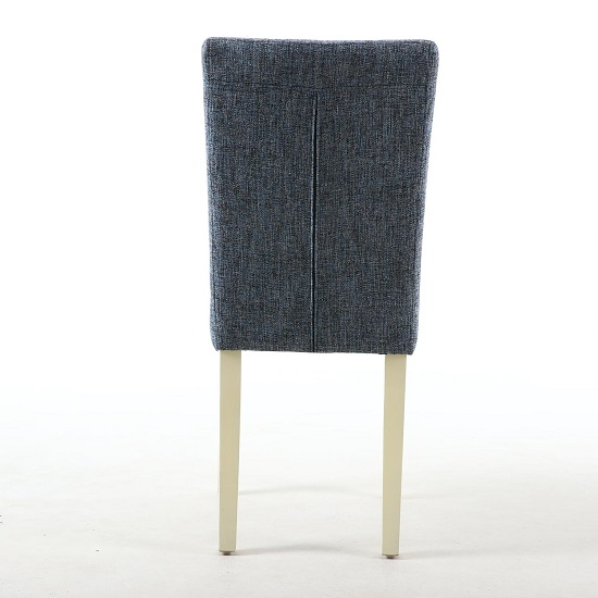 Oriel Dining Chair In Oxford Blue With Cream Legs In A Pair_3