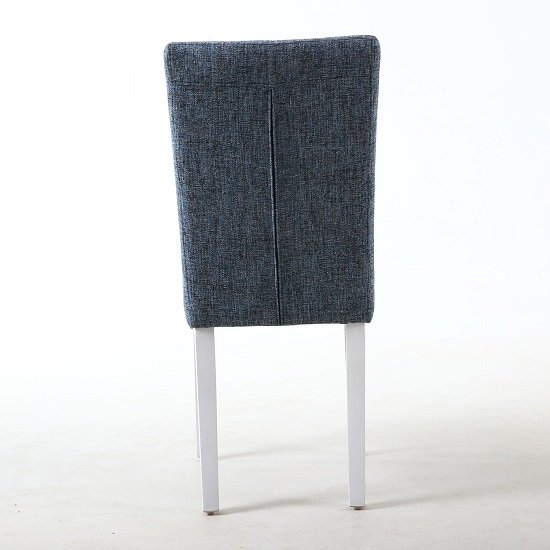 Oriel Dining Chair In Oxford Blue With White Legs In A Pair_3