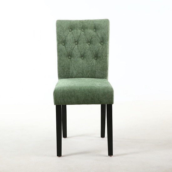 Oriel Dining Chair In Olive Green With Black Legs In A Pair_2
