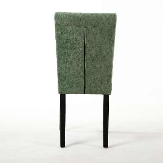 Oriel Dining Chair In Olive Green With Black Legs In A Pair_3