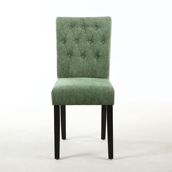 Oriel Dining Chair In Olive Green With Brown Legs In A Pair_2
