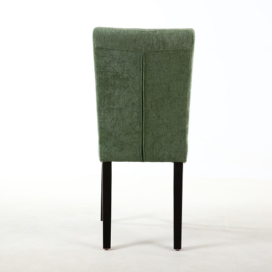 Oriel Dining Chair In Olive Green With Brown Legs In A Pair_3