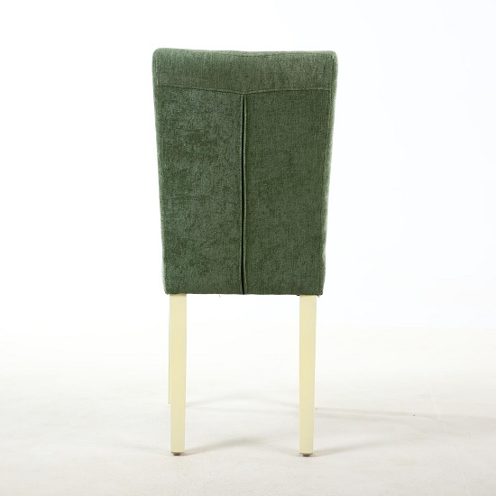 Oriel Dining Chair In Olive Green With Cream Legs In A Pair_3