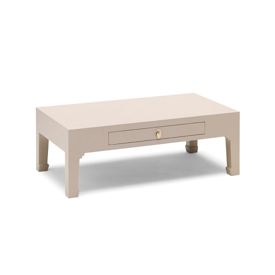 Oriental Modern Coffee Table Rectangular In Oyster Grey