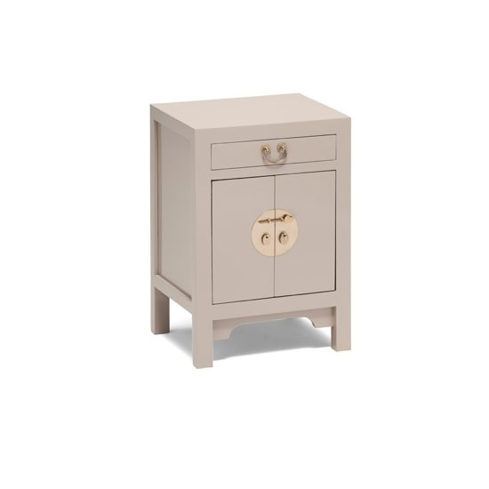 Oriental Storage Cabinet Small In Oyster Grey With 2 Doors