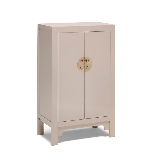 Oriental Storage Cabinet In Oyster Grey With 2 Doors