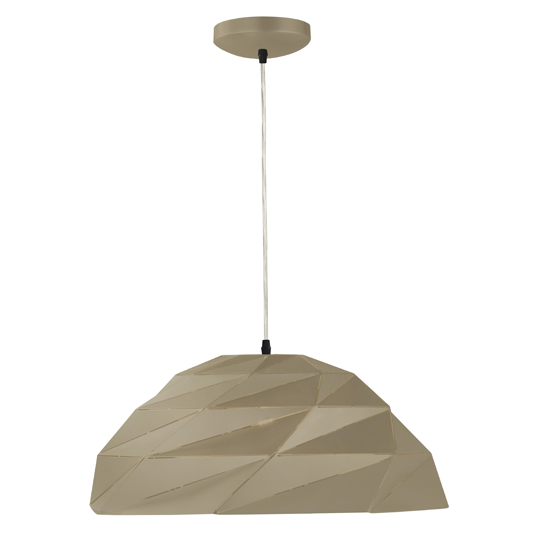 Origami Dome Pendant Ceiling Light In Metallic Gold