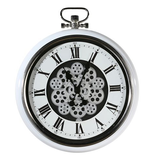 Origin Glass Wall Clock With White And Silver Metal Frame