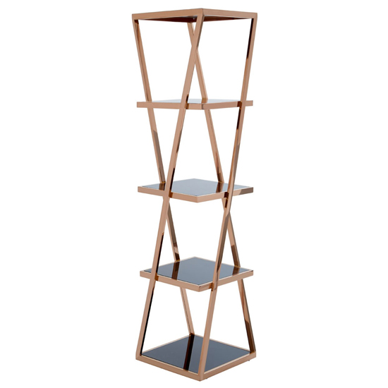Orion 5 Tiers Stainless Steel Shelving Unit In Rose Gold