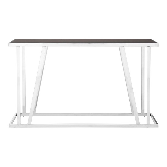 Orion Glass Console Table Rectangular In Black With Steel Frame_3