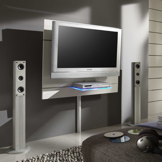 Orion White LCD Wall Mount Unit Set 1