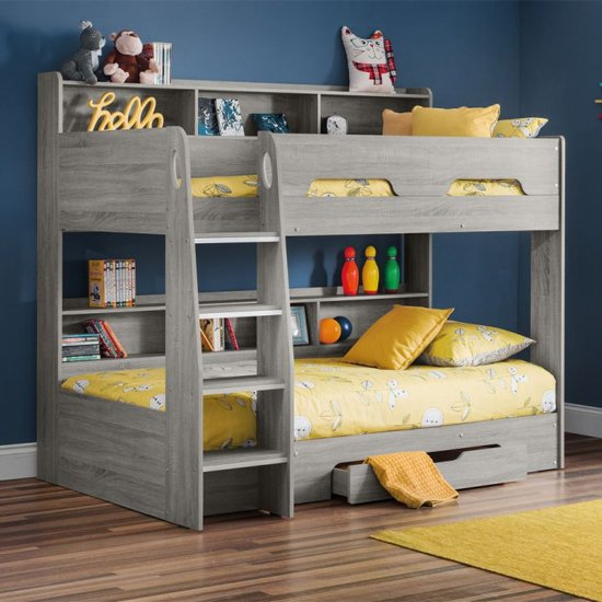 Orion Wooden Bunk Bed In Grey Oak