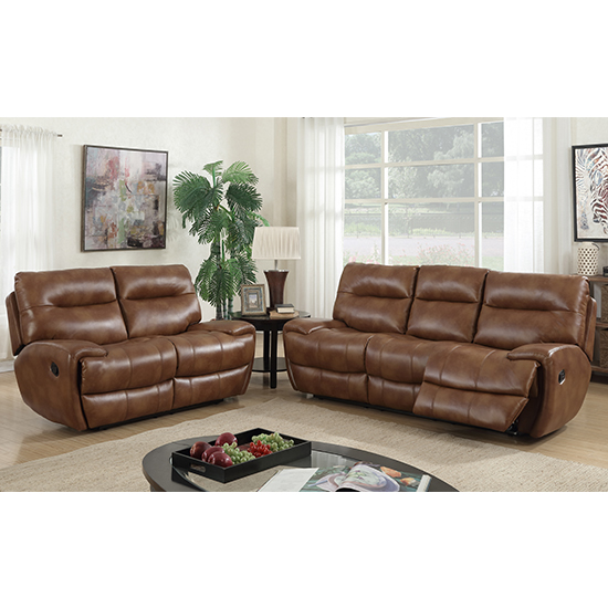 Orionis Recliner 2 Seater And 3 Seater Sofa Suite In Brown