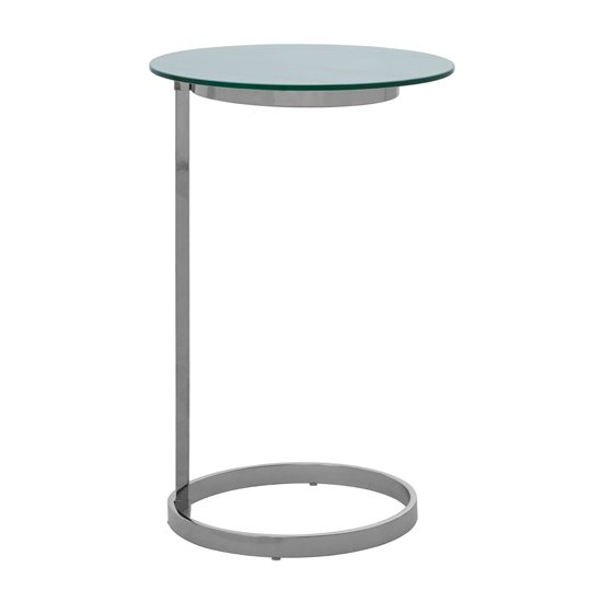Orizone End Table With White Marble Effect Glass Top