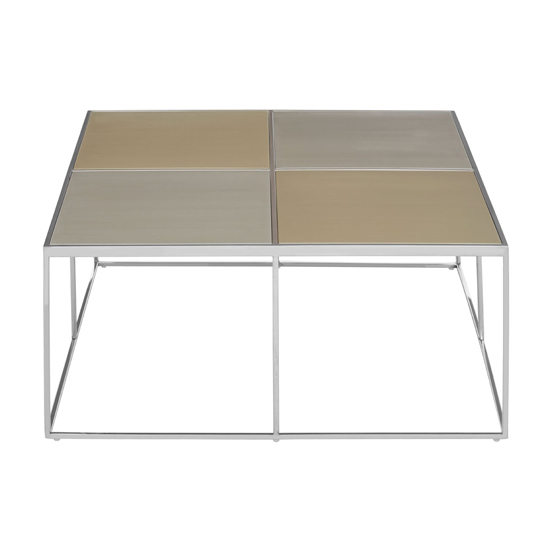 Orizone Glass Coffee Table With Chrome Stainless Steel Legs_2