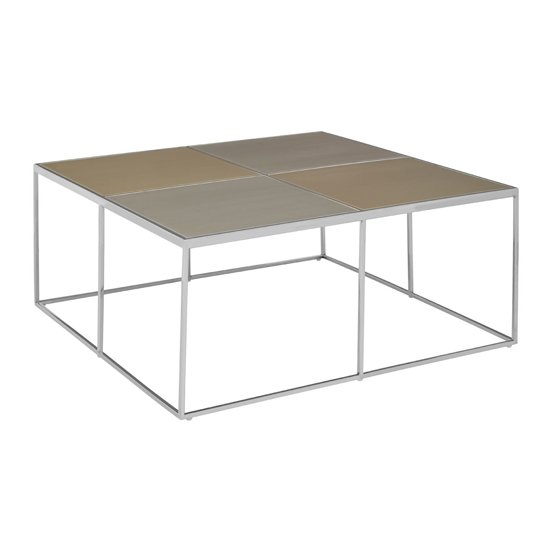 Orizone Glass Coffee Table With Chrome Stainless Steel Legs_3