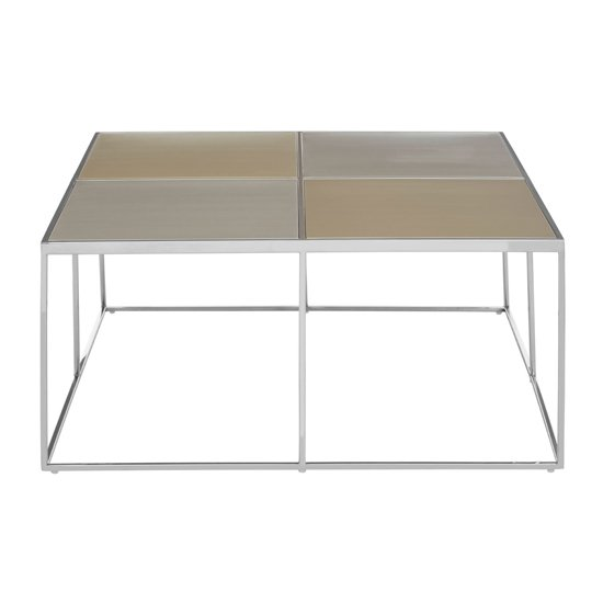 Orizone Glass Coffee Table With Chrome Stainless Steel Legs_1
