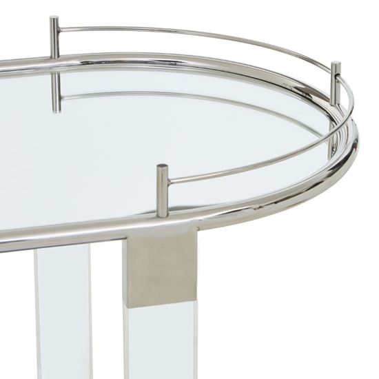 Orizone Mirrored Drinks Trolley With Silver Frame_4