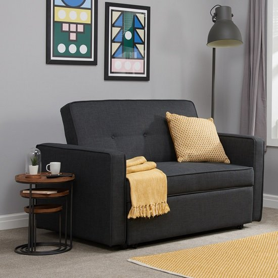 Orlando Modern Fabric Sofa Bed In Grey_1