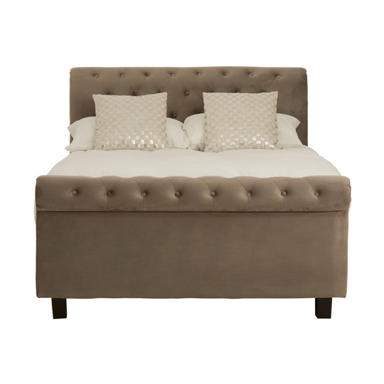 Lionrock Ottoman Fabric Double Bed In Grey     _1