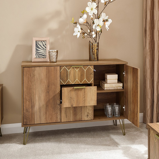 Orleans Sideboards In Mango Wood Effect With 2 Door And 3 Drawer_2