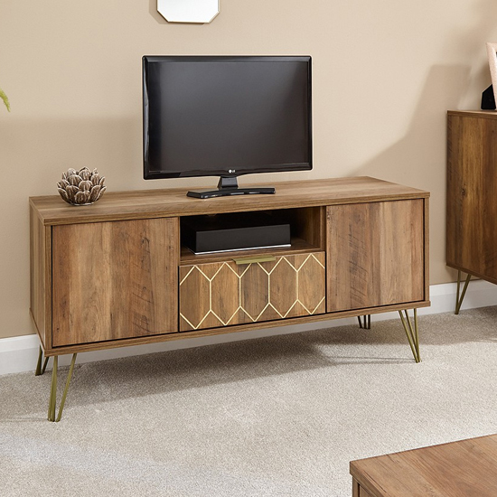 Orleans TV Stand In Mango Wood Effect With 1 Drawer