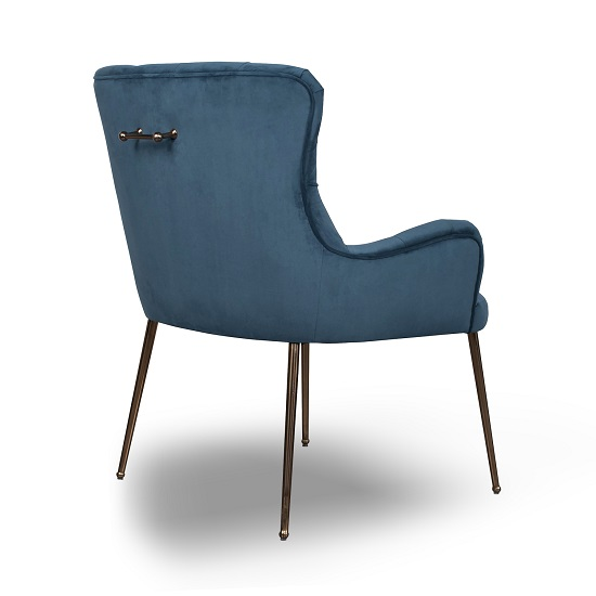Ormond Accent Chair In Brushed Velvet Caribbean Blue_2