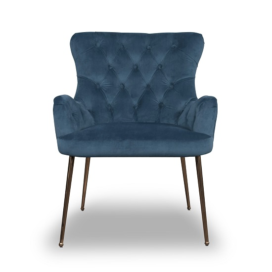 Ormond Accent Chair In Brushed Velvet Caribbean Blue_3