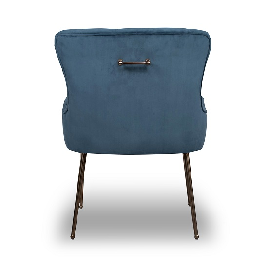 Ormond Accent Chair In Brushed Velvet Caribbean Blue_4