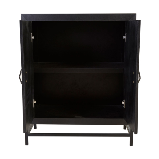 Orphee Clean Lined Wooden Storage Unit In Black_2