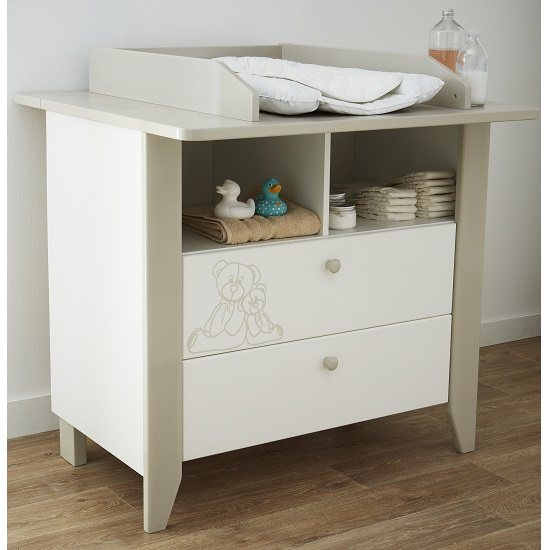 Orsang Childrens Chest of Drawers In White With 2 Drawers_1