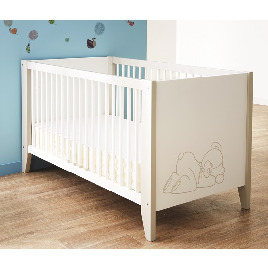 Read more about Orsang wooden childrens bed in white with bars