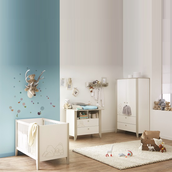 Orsang Childrens Chest of Drawers In White With 2 Drawers_2