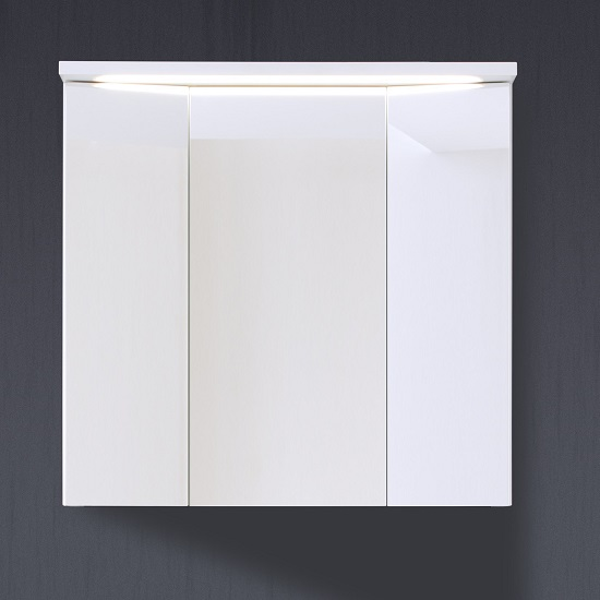 bathroom cabinets orson mirror wall cabinet in white high gloss fronts
