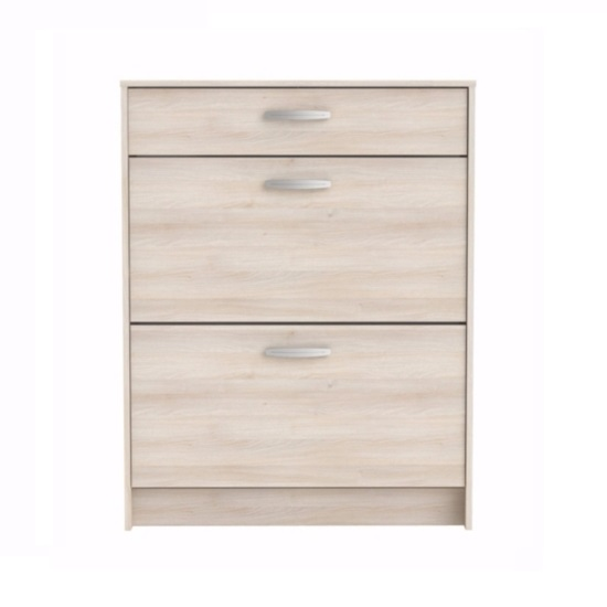 Osaka Shoe Storage Cabinet In Acacia With 2 Flap Doors_3