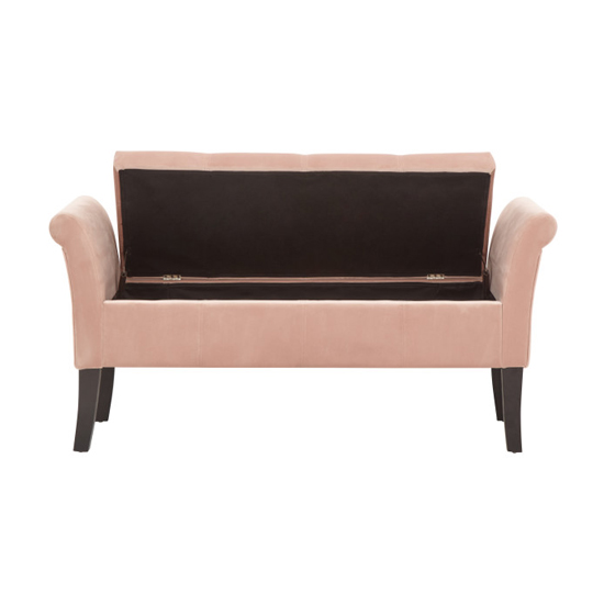 Osbees Fabric Upholstered Window Seat Bench In Pink_4