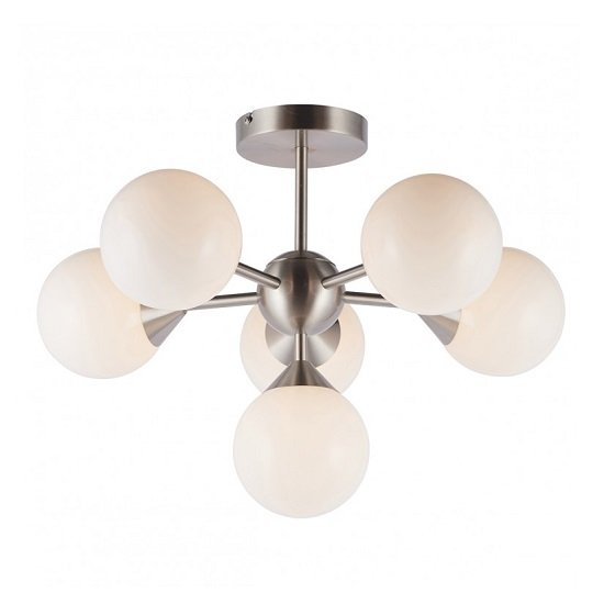 Oscar Six Ceiling Light In Nickel Finish
