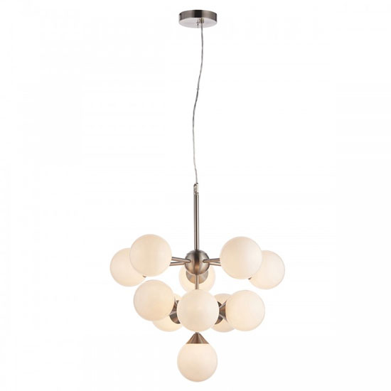 Oscar Wall Hung 11 Pendant Light In Nickel