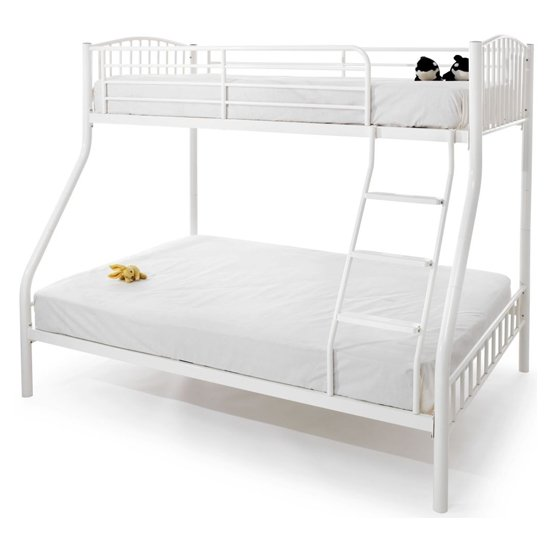 Oslo Metal Double Bunk Bed In White