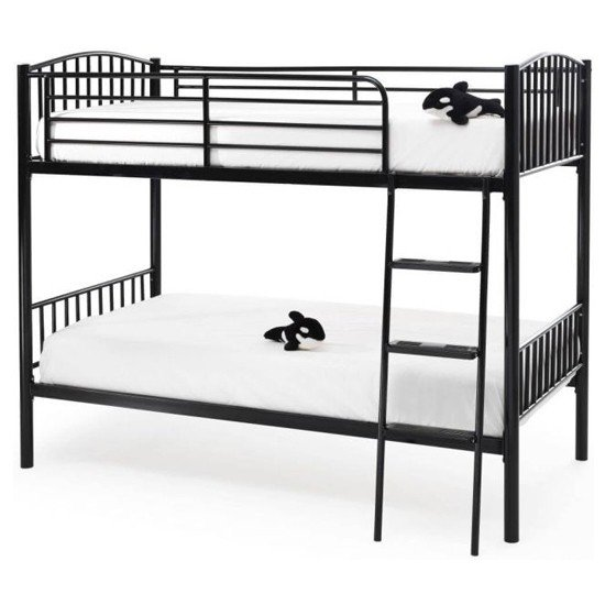 Oslo Twin Metal Bunk Bed In Black_1