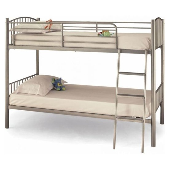 Oslo Twin Metal Bunk Bed In Silver_1
