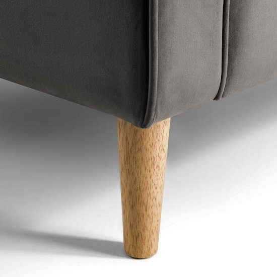 Oswald Armchair In Grey Velvet With Wooden Legs_3