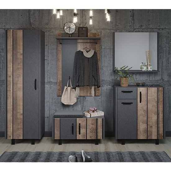View Otis hallway furniture set in matera and tobacco brown oak