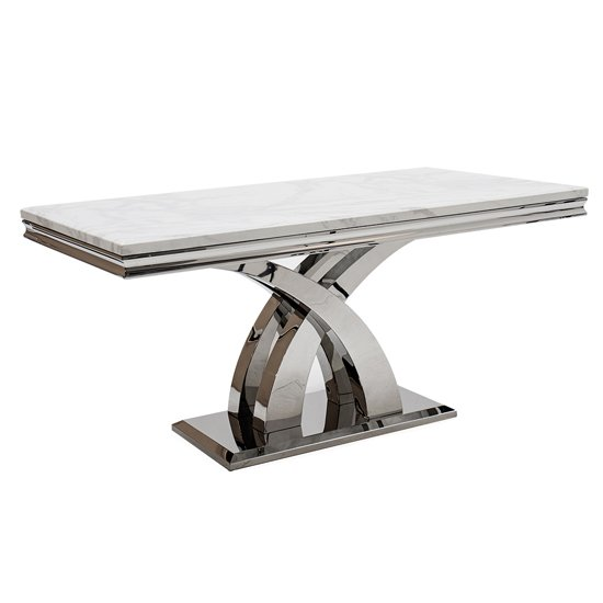 Ottavia Marble Dining Table In Bone White