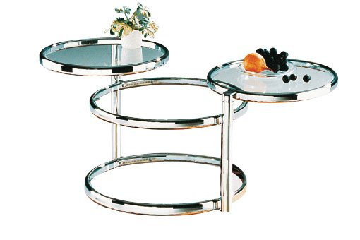 Glass Swivel Coffee Table.Ottawa Glass Coffee Table In Chrome With Swivel Motion