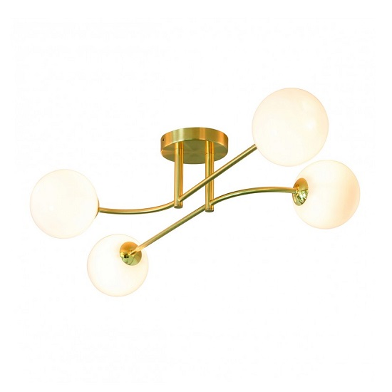 Otto Four Ceiling Light In Gold Finish