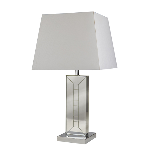 Otto Frame Table Lamp With Mirrored Glass Base