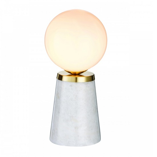 Otto Table Lamp With White Marble Base