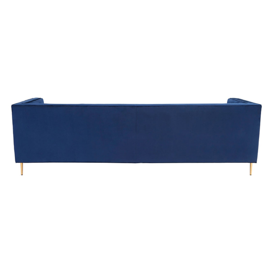 Otylia Velvet 3 Seater Sofa In Deep Blue_4